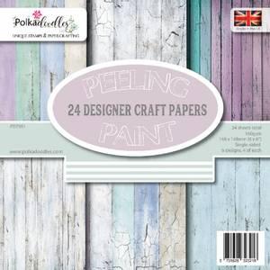 Bilde av Polkadoodles - 6x6 Paper Pack - Peeling Paint - Distressed Wood