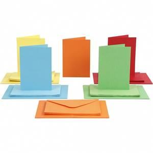 Bilde av CCH - Kort og konvolutter 10,5x15 - 50 stk - ass. farger