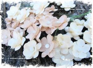 Bilde av Papirdesign - Søte blomster beige