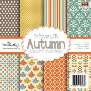 Bilde av Polkadoodles - 6x6 Paper Pack - In love with Autumn