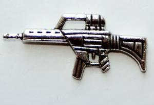 Bilde av Charms - Maskingevær - Sølv - 5 stk