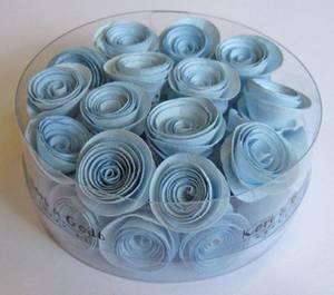 Bilde av Kort & Godt - Blomst snurret S - Lys blå - 2589