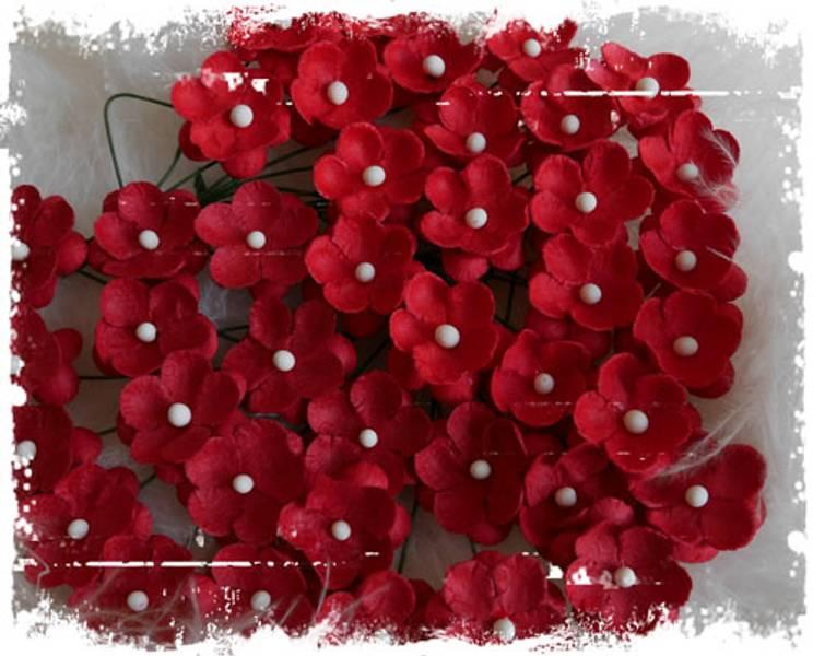 Papirdesign - Søte blomster rød