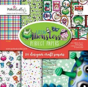 Bilde av Polkadoodles - 6x6 Paper Pack - Little Monsters