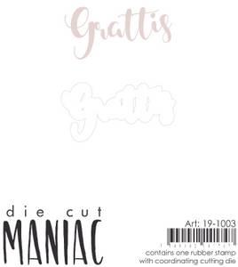 Bilde av Reprint - DieCut Maniac - 19-1003 - Stamp & Die - Grattis