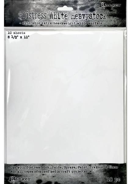 Ranger - Distress White Heavystock - 130lb -  8,5 x 11 - 10 stk