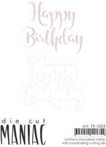 Bilde av Reprint - DieCut Maniac - 19-1004 - Stamp & Die - Happy Brithday