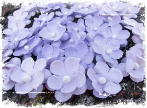 Bilde av Papirdesign - Søte blomster vintage lilla