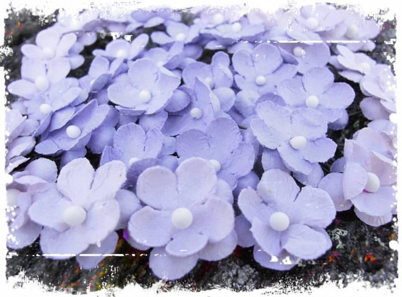 Papirdesign - Søte blomster vintage lilla