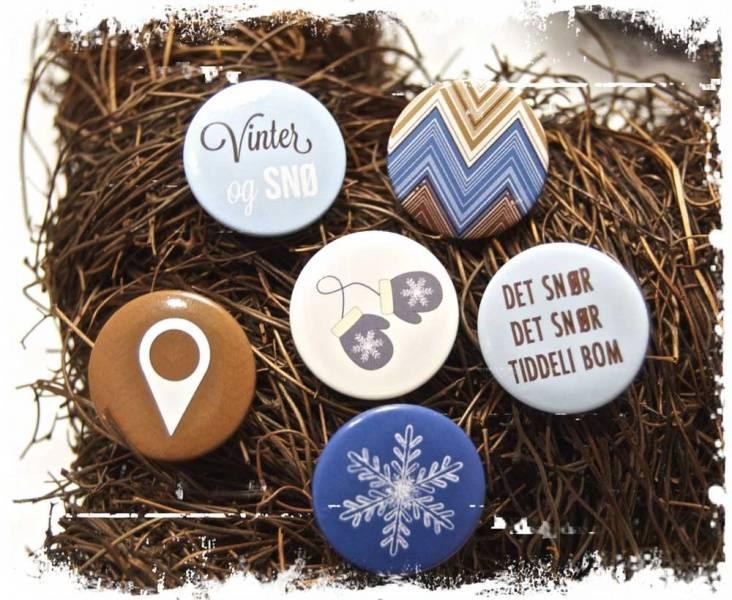 Papirdesign - Buttons - 858 - Vinter