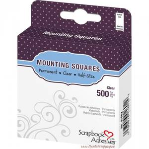 Bilde av Scrapbook Adhesives - Mounting Squares - Permanent Clear -500stk