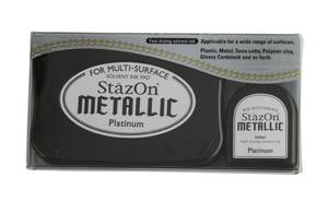 Bilde av Tsukineko - StazOn - Metallic Solvent Ink set - Platinum