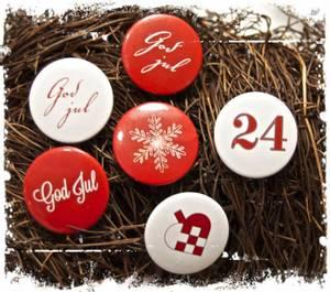 Bilde av Papirdesign - Buttons - 857 - Jul, Rød