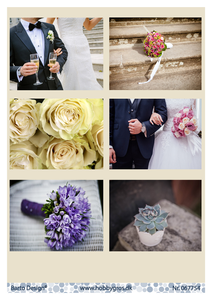 Bilde av Barto Design - Klippeark A4 - 067754 - Wedding Flowers