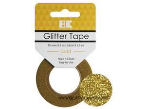 Bilde av BC - Glitter Tape - 15mm x 5m - 002 - Gold