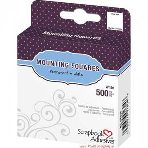 Bilde av Scrapbook Adhesives - Mounting Squares - Permanent White -500stk
