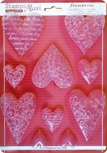 Bilde av Stamperia - Soft Maxi Mould - A4 - 425 - Textured Hearts