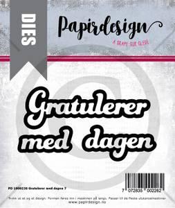 Bilde av Papirdesign Dies PD1900226 - Gratulerer med dagen 7
