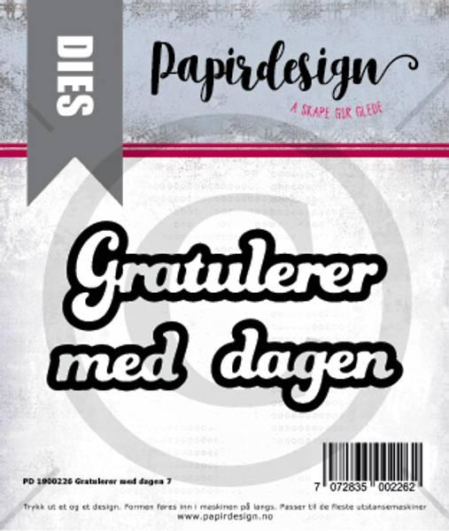Papirdesign Dies PD1900226 - Gratulerer med dagen 7