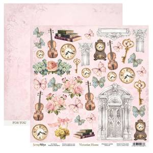 Bilde av ScrapBoys - Victorian Home - 12x12 - VIHO-07 - Die Cut Sheet