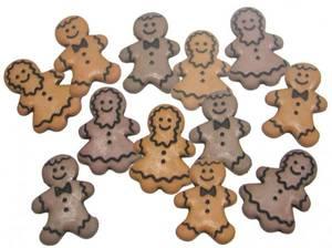 Bilde av Dress it up - Buttons - 1186 - Jul - Gingerbread people