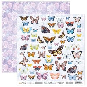Bilde av ScrapBoys - Butterfly Meadow - 12x12 - BUME-07 - Die Cut Sheet