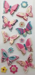 Bilde av Global Gift - 440 158 - Scrap&Deco Sceny Stickers - Butterflies