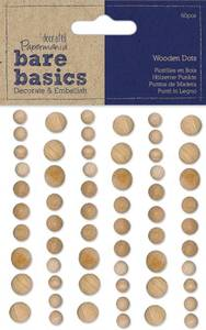 Bilde av Papermania - Bare basics - Wooden Dots Light - 60 stk