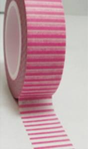 Bilde av WASHITAPE - Hvit m/rosa striper