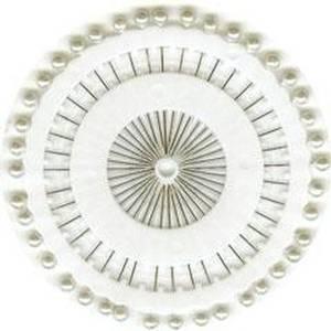 Bilde av Pyntenåler - Dråpe perle - Hvit - 40 Stk