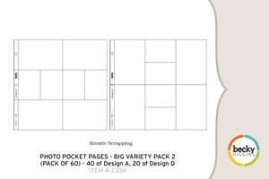 Bilde av Project Life - 380002 - Photo Pocket Pages - BIG VARIETY PACK 2