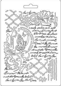 Bilde av Stamperia - Soft Mould - A5 - 501 - Butterfly & Manuscripts