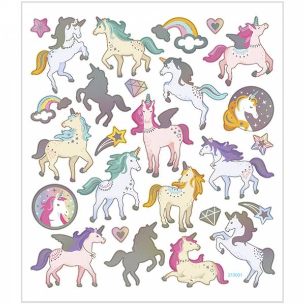 Creotime - Stickers - 29171 - Unicorns