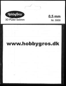 Bilde av HobbyGros - 3D Puter - 5x5mm - 0.5mm