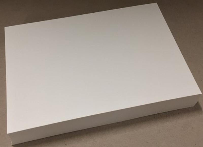 Kartong 20x21cm - 200g - Ivory - f.eks SlimLine kortbase
