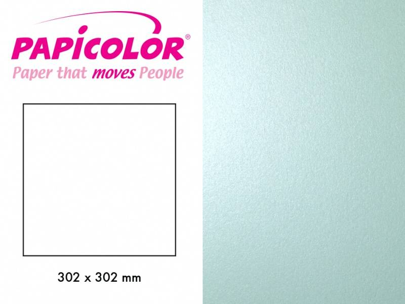 Papicolor - Kartong - 12x12 - 366 - Metallic - Babyblå (lys grøn