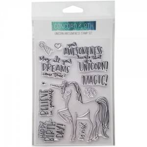 Bilde av Concord & 9th - clear stamp - 10230 - Unicorn Awesomeness - 4