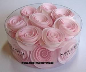 Bilde av Kort & Godt - Blomst snurret L - Rosa - 2633