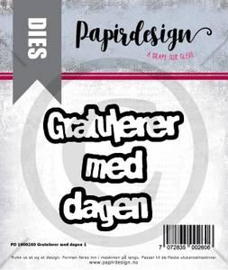 Bilde av Papirdesign Dies PD1900260 - Gratulerer med dagen 1