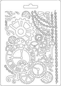 Bilde av Stamperia - Soft Mould - A5 - 508 - Clock & Mechanisms