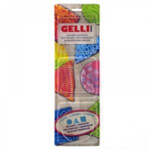 Bilde av Gelli Arts - Mini Printing plates - Round, square, triangle