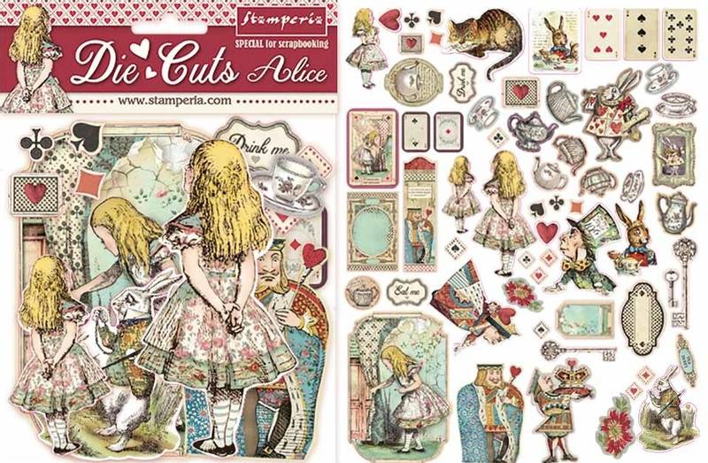 Stamperia - Chipboard Die Cuts - 07 - Alice