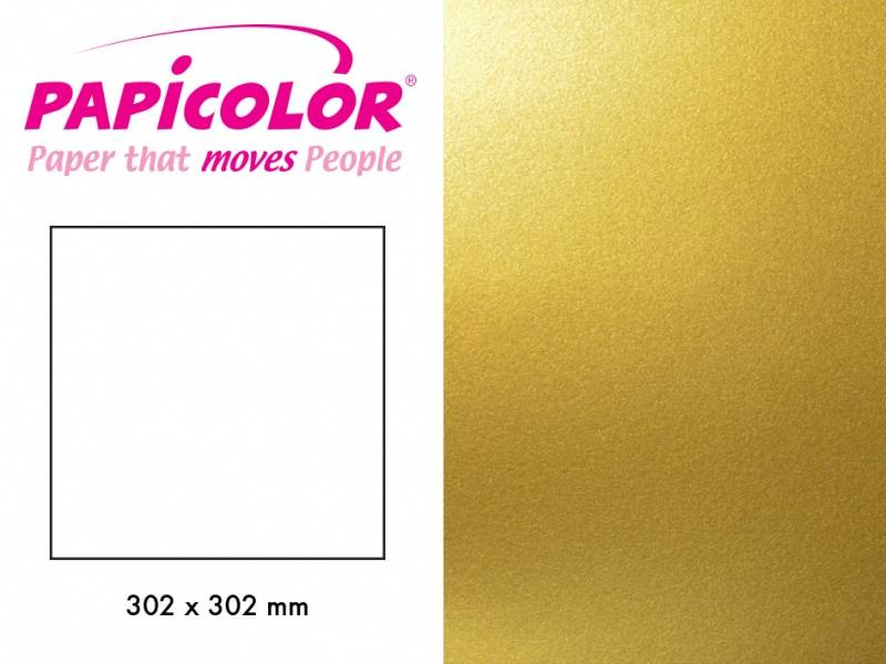 Papicolor - Kartong - 12x12 - 333 - Metallic - Super Gold