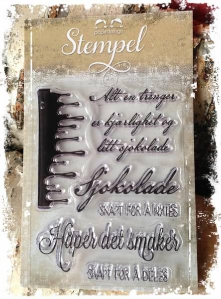 Papirdesign - Stempel - PD14952 - Sjokolade