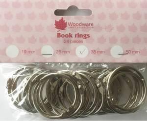 Bilde av Woodware - Book Rings - 38 mm - 24 pk