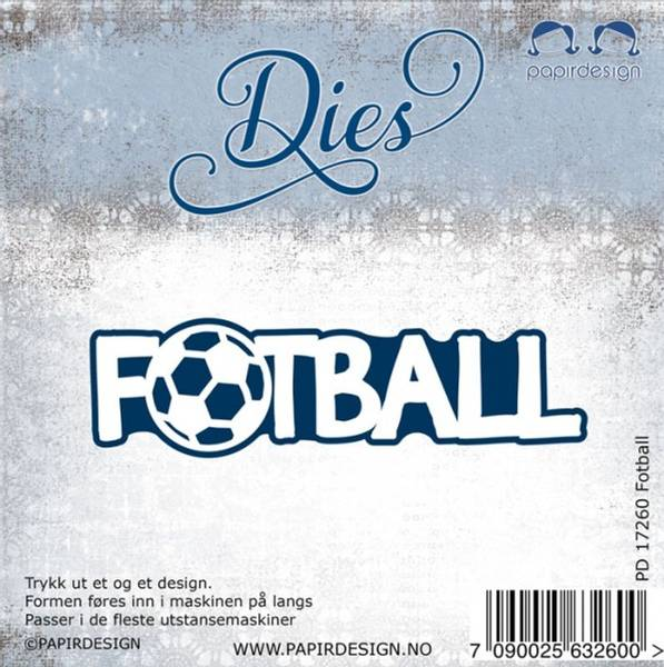 Papirdesign dies PD17260 - Fotball