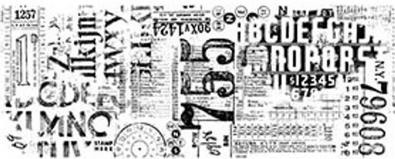 Tim Holtz - Idea-Ology - TH94046 - Collage Paper - Typeset