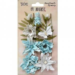 Bilde av 49 and Market - Vintage Shades Cluster Flowers - Blue