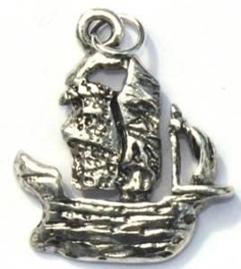 Bilde av Charms - Pirat skip - Sølv - 5 stk