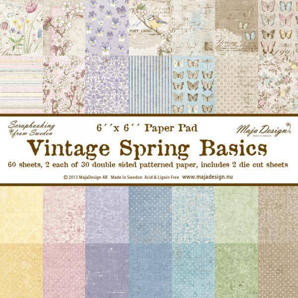 Maja Design -  613 - Paper pad 6x6 - Vintage Spring Basics